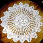 Crochet encaje redondo para mesa camilla hecho a mano para camilla redonda