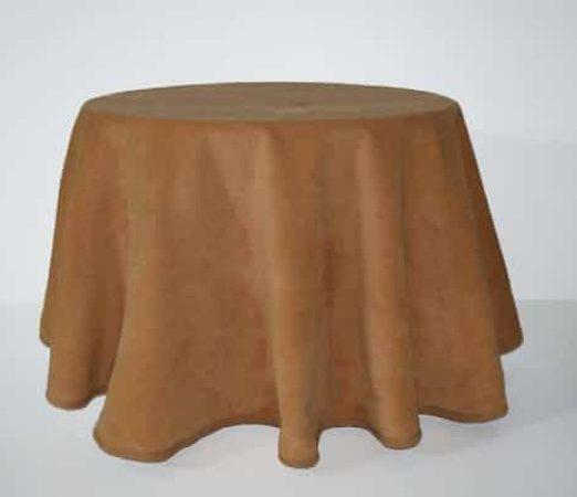 enagua para mesa camilla de invierno color Caramelo faldas camilla