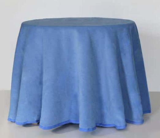 falda de mesa camilla redonda para invierno color azul