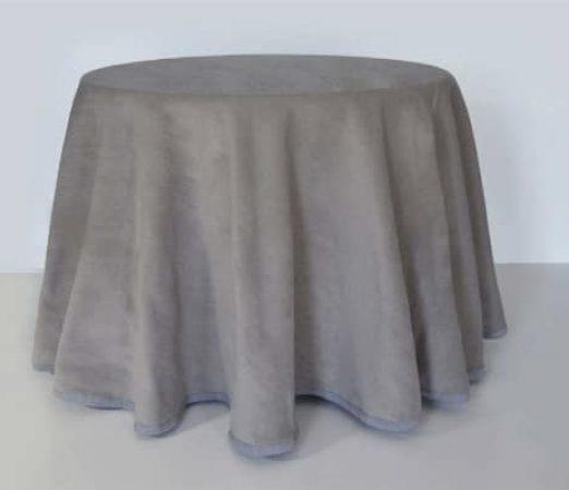 tela de calidad para mesa camilla de color gris que protege del frio