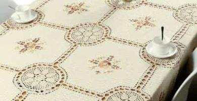 mantel tapete de ganchillo y encaje floral