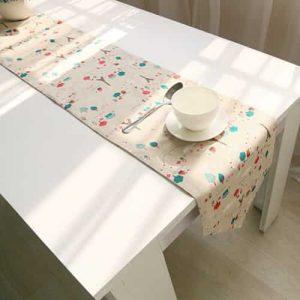 camino de mesa estilo popart vintage