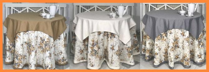 Faldas para mesa camilla redonda