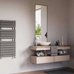 Radiadores toalleros de agua y eléctricos.
