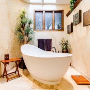 Ideas sobre cómo decorar baños y no decorar el cuarto de baño.