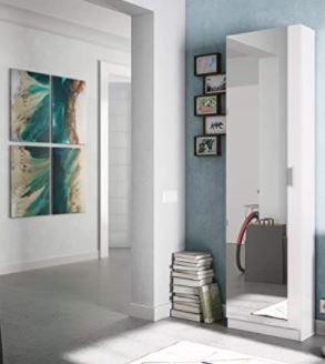 fotografía del mueble armario zapatero con espejo ya montado en casa.